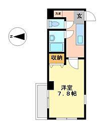 愛知県名古屋市中村区宮塚町の賃貸マンションの間取り