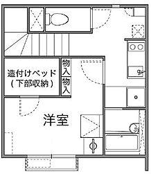東京都府中市若松町1丁目の賃貸アパートの間取り