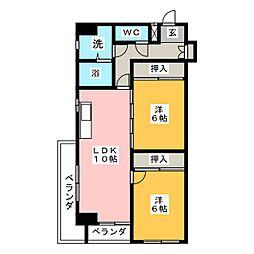 レジデンシア東別院[7階]の間取り