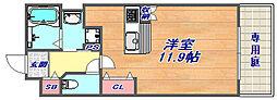 アクロス神戸灘アパートメント[303号室]の間取り