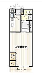 広島電鉄1系統 宇品5丁目駅 徒歩2分の賃貸アパート 3階1Kの間取り