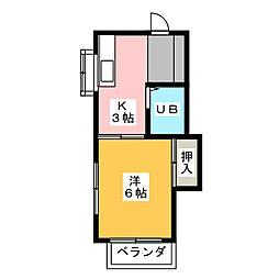 紅野ハイツ[2階]の間取り