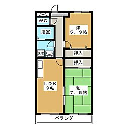 Chez Nous吉祥院[2階]の間取り