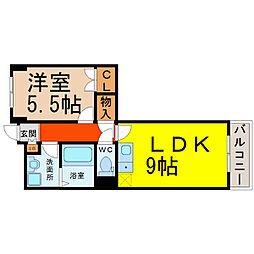 ロータス亀島[8階]の間取り