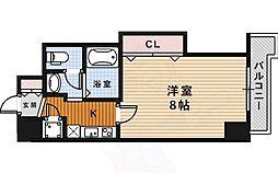 阪急今津線 宝塚南口駅 徒歩5分の賃貸マンション 13階1Kの間取り