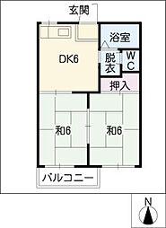 メゾンサンベント[2階]の間取り