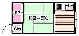 孔雀ハウス[3階]の間取り