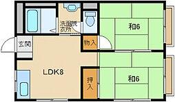 藤森マンション[5階]の間取り