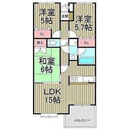 コートハウス鎌倉山壱番館[2階]の間取り