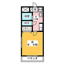 エクシール末広[1階]の間取り