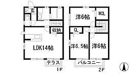 [テラスハウス] 兵庫県西宮市段上町7丁目 の賃貸【/】の間取り