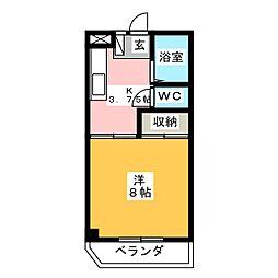 アマディス山崎[4階]の間取り