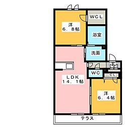 三重県四日市市茂福町の賃貸マンションの間取り