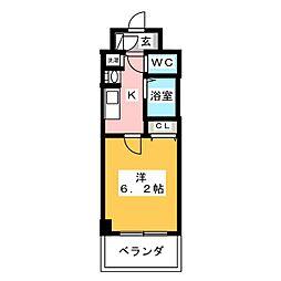 プレサンス京都鴨川彩華[1階]の間取り