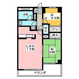 ツインシティヴェール高崎[8階]の間取り