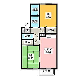 プレイズ D[2階]の間取り