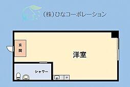 JR山手線 東京駅 徒歩12分の賃貸マンション 3階ワンルームの間取り