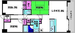 レジディア都島I[14階]の間取り