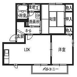 サンヒル岸和田2[1階]の間取り
