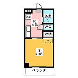メゾン大福[3階]の間取り