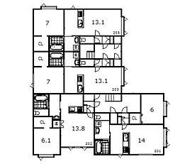 豊岡1−1新築[201号室]の間取り