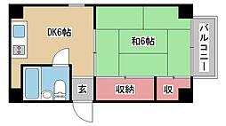 兵庫県神戸市中央区下山手通4丁目の賃貸マンションの間取り