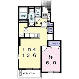 JR京浜東北・根岸線 北浦和駅 バス20分 領家下車 徒歩4分の賃貸アパート 1階1LDKの間取り