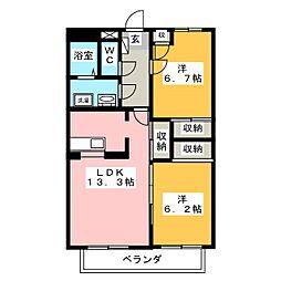 SurplusKAWATA[1階]の間取り