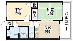 シームーン[4階]の間取り