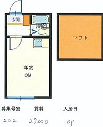 東京都東村山市久米川町5丁目の賃貸アパートの間取り