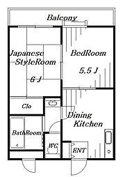 サワーハイム[2階]の間取り
