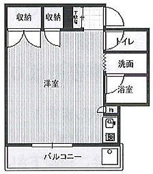 エステートハネダ bt[3階]の間取り