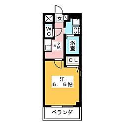 愛知県名古屋市瑞穂区密柑山町2丁目の賃貸マンションの間取り