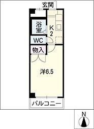 安田学研会館 中棟2[2階]の間取り
