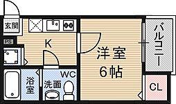コンフォート神崎川[2階]の間取り