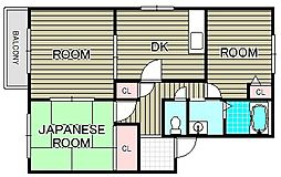 フレグランス・ヴィラ A棟[2階]の間取り