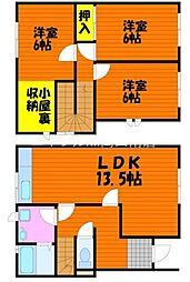 [テラスハウス] 岡山県岡山市北区花尻ききょう町丁目なし の賃貸【/】の間取り