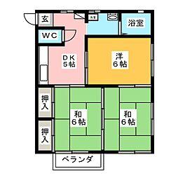 バースディハイツII[1階]の間取り