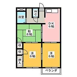 ファミールヤマダD[2階]の間取り