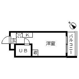 TOP・大倉山[0404号室]の間取り