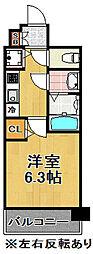 アドバンス大阪ドーム前アヴェニール[309号室]の間取り