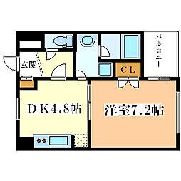 ピュアライフ御幣島[2階]の間取り
