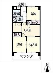 M・ALLEGIANCE[2階]の間取り