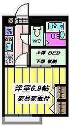 埼玉県川口市戸塚境町の賃貸アパートの間取り