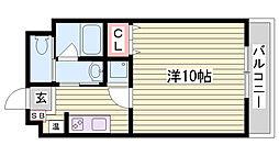 神戸市西神・山手線 伊川谷駅 徒歩6分の賃貸マンション 3階1Kの間取り