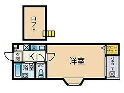 メゾントゥハート[2階]の間取り