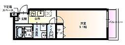 フジパレス太子橋III番館 1階1Kの間取り