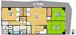 ターミナルマンション朝日プラザ[8階]の間取り