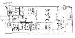 JR鹿児島本線 千早駅 徒歩5分の賃貸マンション 9階1LDKの間取り