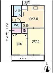コーポOII[2階]の間取り